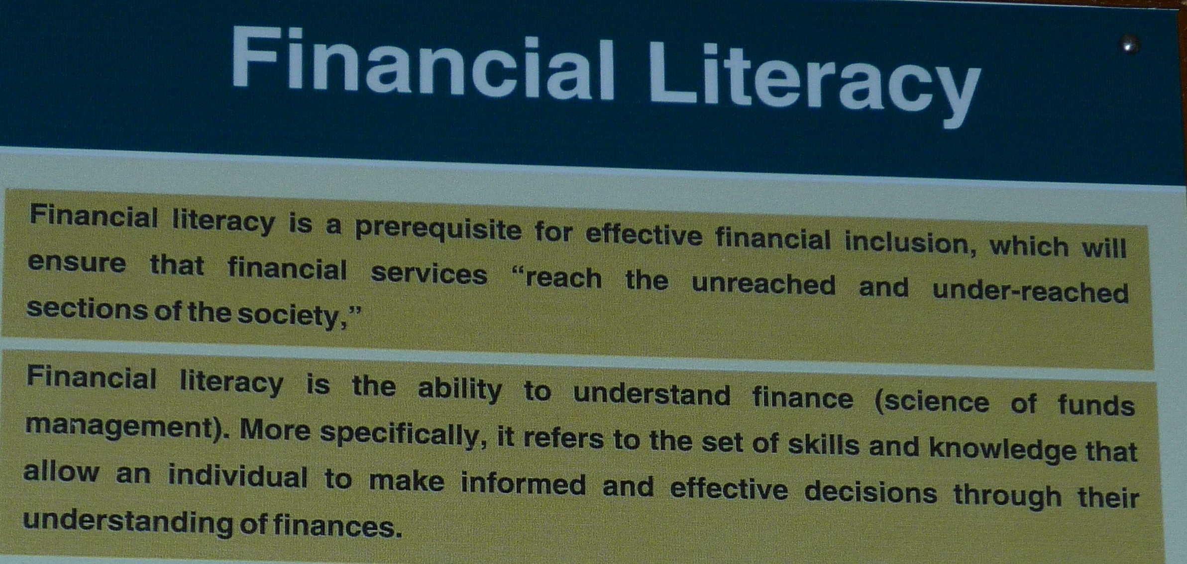 financial literacy in the philippines essay