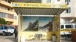 Tourist booth at the bottom of the Favela